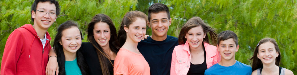 Smiling Teens with Braces